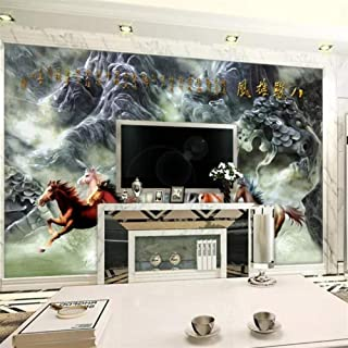 XUNZHAOYH 3D Mural Wallpaper,Custom Photo Wallpaper Mural 3D Eight Diagrams Relief Mural Tv Background Wall Painting 3D Wallpaper Papel De Parede,500(W) X320Cm(H)(16.5X10.6) Ft