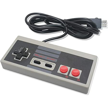 NES Classic Mini Edition Wired Controller for Nintendo Mini Video Game Console with Extra Long 6' Cable (6-Pin Plug Compatible with NES Classic Mini Edition Only)