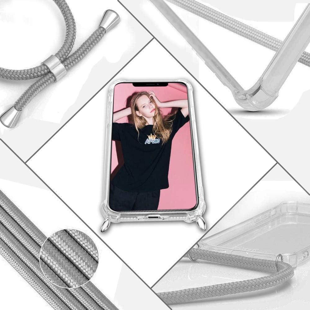 Ultra Mince Souple TPU Housse avec Cordon Collier pour t/él/éphone Portable Transparente Silicone /Étui 360 Degr/és Antichoc Arc en Ciel Coque pour Xiaomi Redmi Note 9A