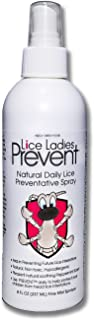 Lice Ladies Prevent/Natural Daily Lice Preventative Spray/Non-Toxic homeopathic lice Repellent with Soothing Peppermint Scent / 8 oz Spray Bottle