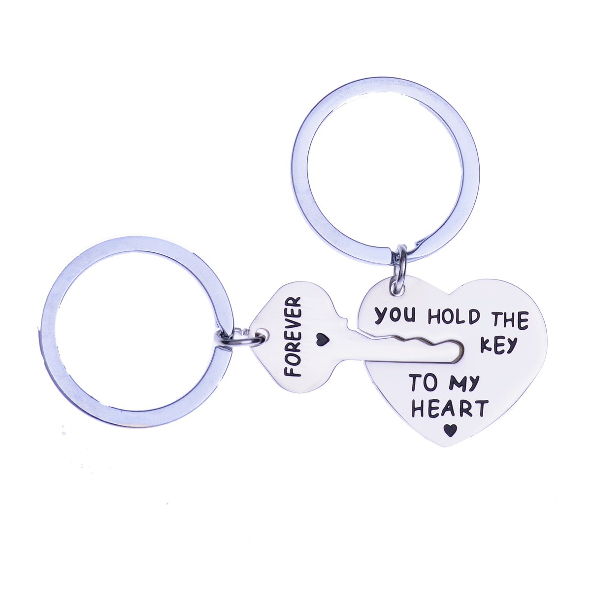 YEEQIN Valentines Gifts for Girlfriend Boyfriend You Hold The Key to My Heart Forever Couple Keychain Husband Wife Love Keychain Key Ring Chain Lover Gift