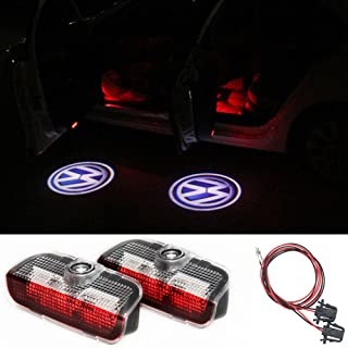 DELEIKA 2PC Car LED Door Warning Light welcome Logo Projector For VW Passat B6 B7 CC Golf 6 7 MK5 MK6 Tiguan Scirocco With Harness (VW Logo)