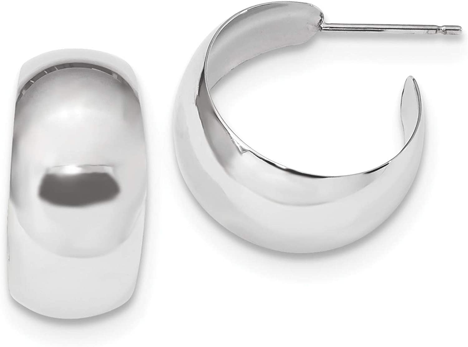 14k White Gold 5 ☆ very popular Small Earrings Max 86% OFF Hoop