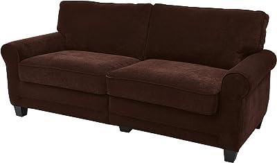 Amazon Com Amazon Brand Stone Beam Genesse Sofa Couch 91 W Smokey Blue Grey Furniture Decor