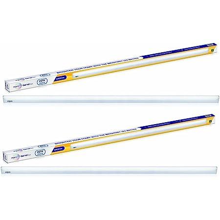 Wipro High Lumen 22-Watt LED Batten (Pack of 2, White) (D532265_2)