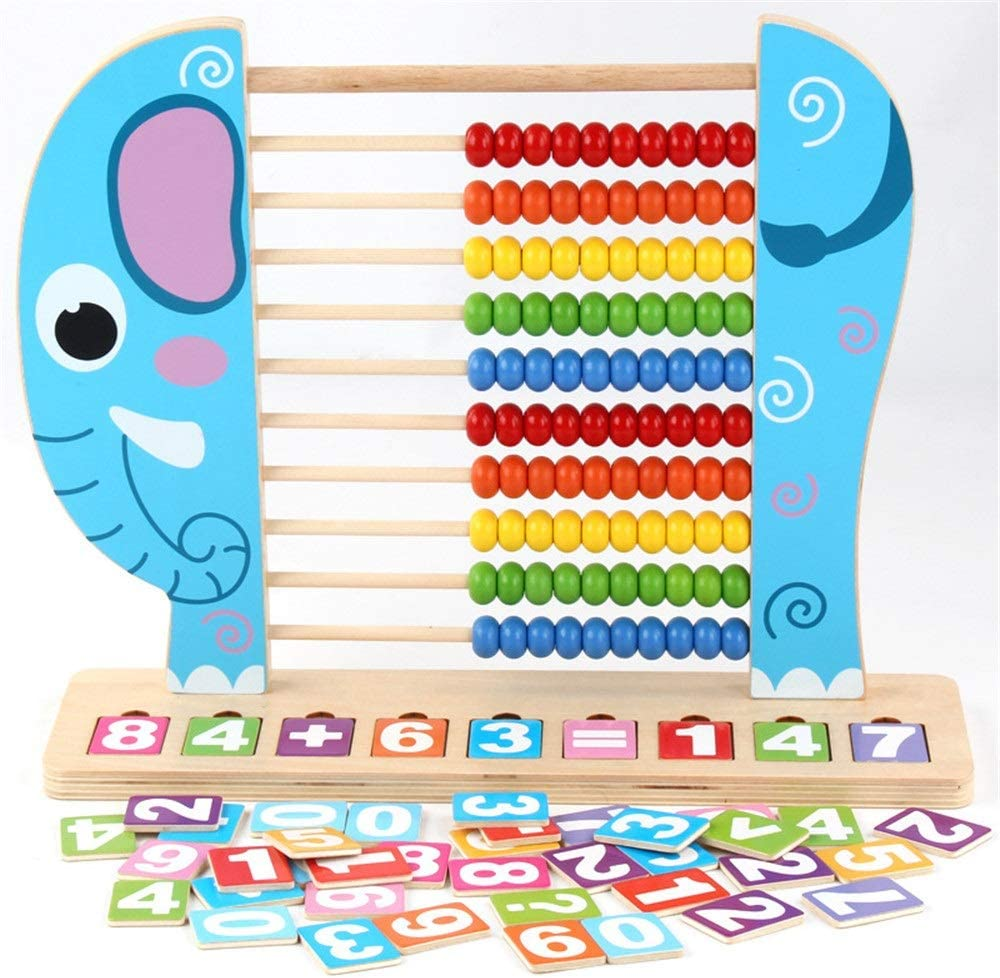 Juguetes para niños Juguetes de madera, el aprendizaje de matemáticas Números manipulativos que cuenta granos Abacus juguete clásico Actividad de madera Clasificador de Juguetes Regalo educativo del j