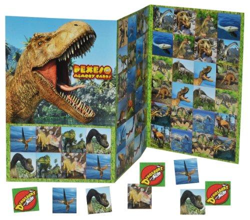 alles-meine.de GmbH Gedächtnis Spiel - Dinosaurier T-Rex Dinos - zum Ausschneiden Dino - für Jungen Bastelset Memo Spiel Gedächtnisspiele Kinder / Kartenspiel Karten - Memo