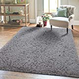 Super Soft Kids Room Nursery Rug 5' x 8'Grey Mordern Indoor Fluffy Area Rugs for Bedroom Living Room Baby Girls Boys Floor Carpets by VaryCarry