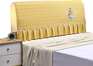 Stretch Bed Head Protector Cover Washable Removable Solid Color Protective Cover Decor for BedroomPolyester Fiber Elastici...
