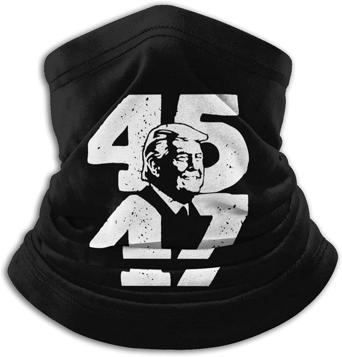 45 47 trump 2024 president unisex winter neck gaiter face cover mask, windproof balaclava scarf for fishing, running & hiking