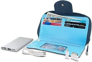 RFID Blocking Clutch Wallet w/Power Pack