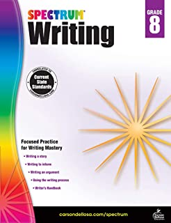 Spectrum Paperback Writing Book, Grade 8, Ages 13-14