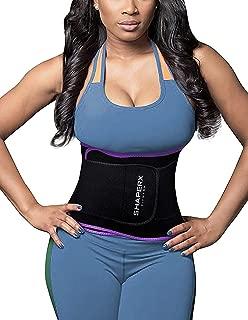 Camellias Corsets SHAPERX Women's Waist Eraser Sweat Bands Slimming Belt Hot Neoprene Sauna Waist Trainer Belt for Weight Loss,SZ8010-Purple-L