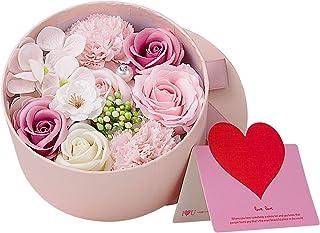 ANBET Rose artificielle dans une boîte cadeau Faux rose Bouquets d'oeillets dames cadeaux romantiques, pour la Saint-Valen...