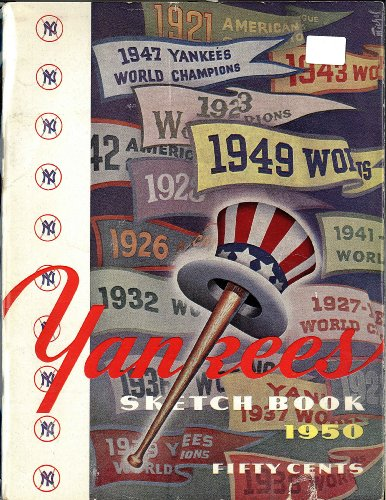 Original 1950 New York Yankee Sketch Book