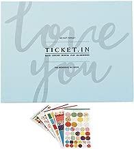 Formemory DIY Ticket Album, Ticket Stub Organizer 140 Photos for Sports Movie Concert Travel Banknote Bill Collect Book(Blue)