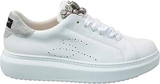 Tosca Blu Studio Sneakers in Pelle con Perle e Pietre Art. Agata