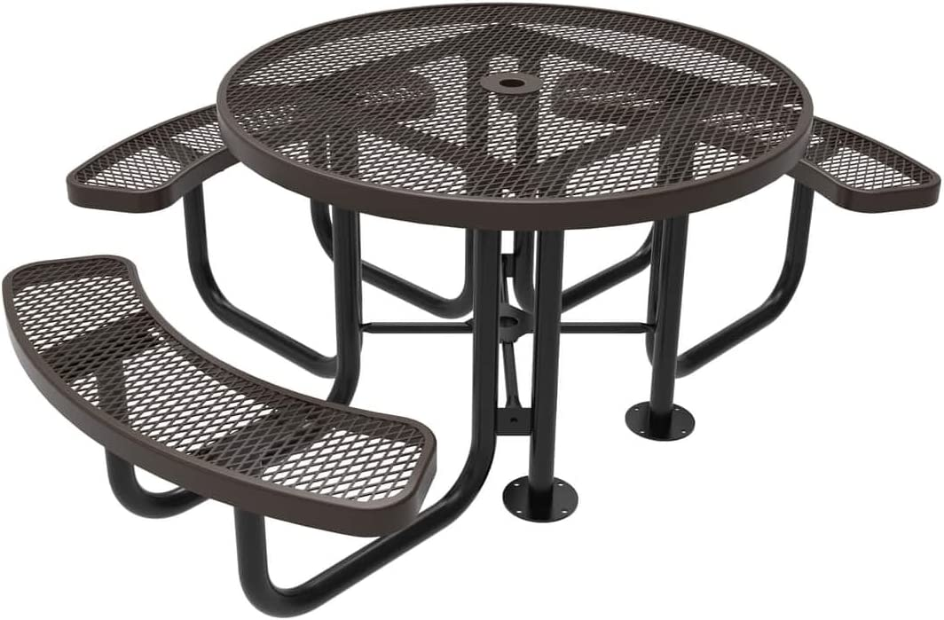Coated Outdoor High quality new Furniture TRD3-BRW Top Round Picnic Portable Tabl 2021 model
