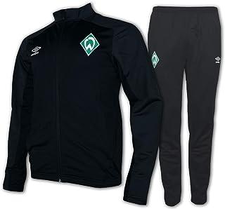 Umbro Herren Fußball SV Werder Bremen Trainingsanzug Knit Suit schwarz grau