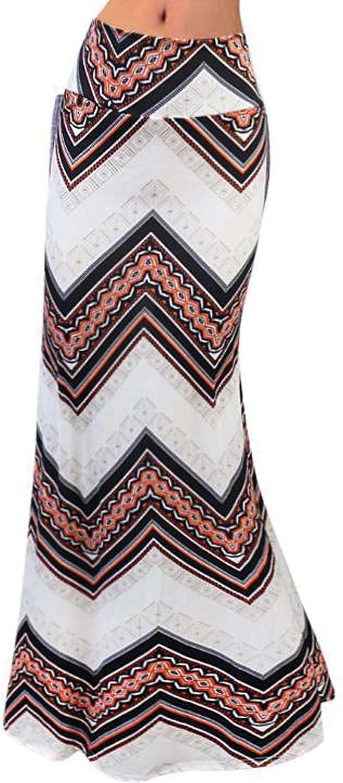 Women's Printed Stretchy Slim Mid Length Skirt High Waist Half Skirt Women's Printed Stretchy Wrap Hip Hem Skirt