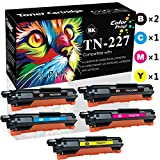 Compatible (5-Pack, 2X BK+C+M+Y) TN227 Toner Cartridge High Yield TN-227 Used for Brother HL-L3210CW L3230CDW L3710CDW L3270CDW MFC-L3710CW L3750CDW L3770CDW Printer, Sold by ColorPrint