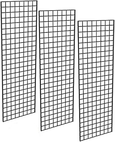Only Garment Racks - Commercial Grade Gridwall Panels – Heavy Duty Grid Panel for Any Retail Display, 2' Width x 6' H...