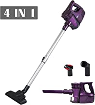 Cordless Upright Lightweight 4-in-1 Vacuum Cleaner Easy for All Floors, Carpets and The House Corner of Cleaning and Also with 8000pa Powerful Motor, Rechargeable Lithium Ion Battery (Purple VC601)