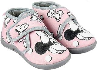 Minnie-Disney Bottines – Zapatillas de interior fosforescentes para niña, color rosa y gris del 23 al 28