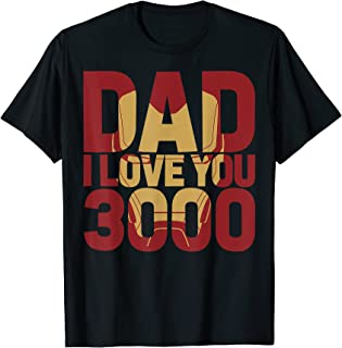 Iron Man Dad I Love You 3000 Text Fill Father's Day T-Shirt