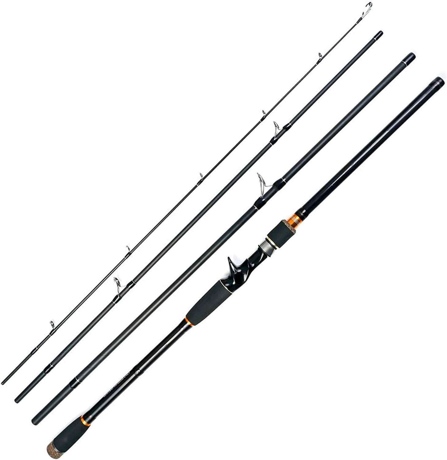 2.1 2.4 2.7M Rod 4 Section Carbon Spinning Fishing Rod Travel Rod Casting Fishing Pole Vava De Pesca Saltwater Rod Spinning