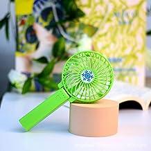 Ventilateur d'été Personnalisable Logo de Bureau Portable Summer USB Charge Mini Main Hold Hold Plier Petit Fan-Vert_Venti...