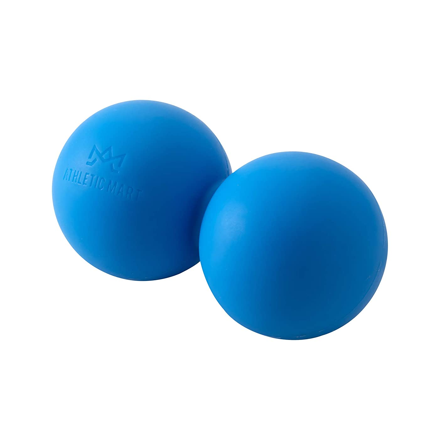 ATHLETIC MART ピーナッツ型ストレッチボール マッサージボール ラクロスボール2個サイズ ツボ押し (ブルー)