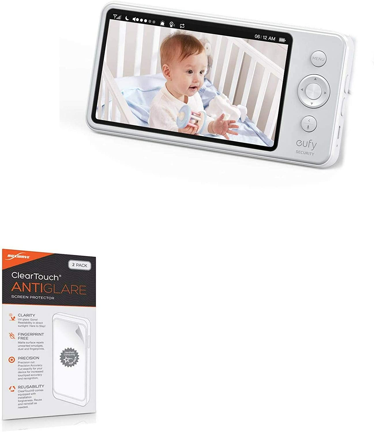 Screen Protector for Eufy 720p Video Baby Monitor (Screen Protector by BoxWave) - ClearTouch Anti-Glare (2-Pack), Anti-Fingerprint Matte Film Skin for Eufy 720p Video Baby Monitor