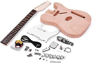 Docooler Muslady Unfinished Electric Guitar DIY Kit TL Tele Style Mahogany Body Maple Wood Neck Rosewood Fingerboard