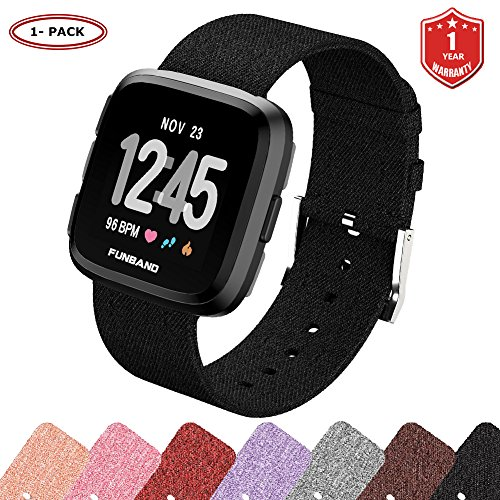 FunBand Compatible per Cinturino Tessuto Fitbit Versa 2, Sostituzione Band Strap Cinturino per Le Donne Uomini Cinturino a Sgancio Rapido Orologio per Fitbit Versa/Versa 2/Versa Lite Smartwatch