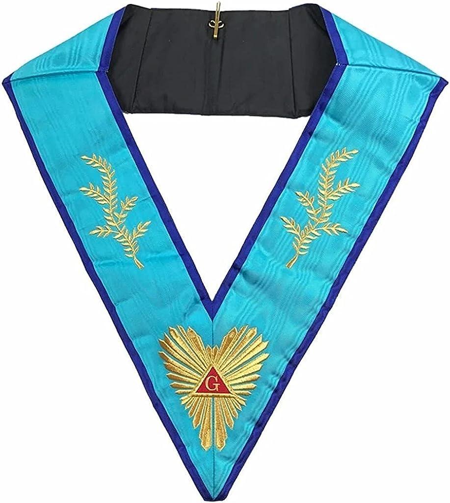 Masonic Memphis Misraim Worshipful Master Collar Machine embroidery