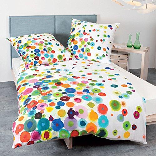 Janine Design Mako-Satin Bettwäsche modern Art 42030-09 Multicolor 1 Bettbezug 155 x 220 cm + 1 Kissenbezug 80 x 80 cm