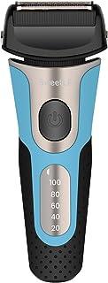 SweetLF 電気シェーバー メンズ ひげそり 往復式 3枚刃 USB充電式 お風呂剃り可 LED電池残量表示トリマー付き (青)