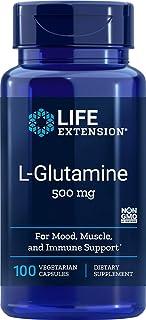 Life Extension L-Glutamine 500 mg 100 Vegetarian Capsules