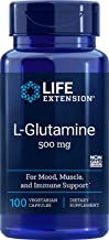 Life Extension L-Glutamine 500 mg 100 Vegetarian Capsules
