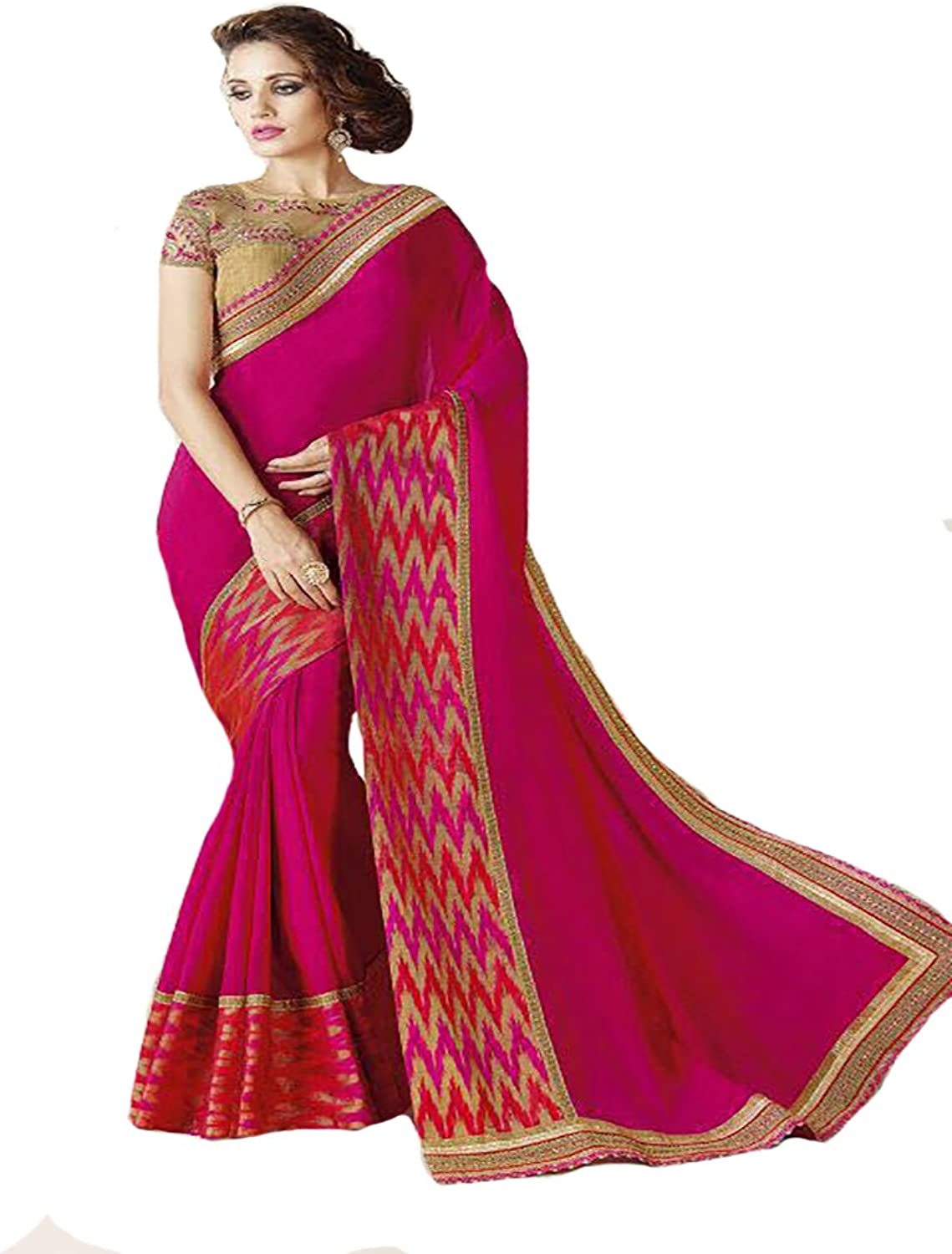 TRADITIONAL DESIGNER STYLISH SAREE SARI WEDDING CEREMONY PARTY WEAR INDIAN MUSLIM WOMEN