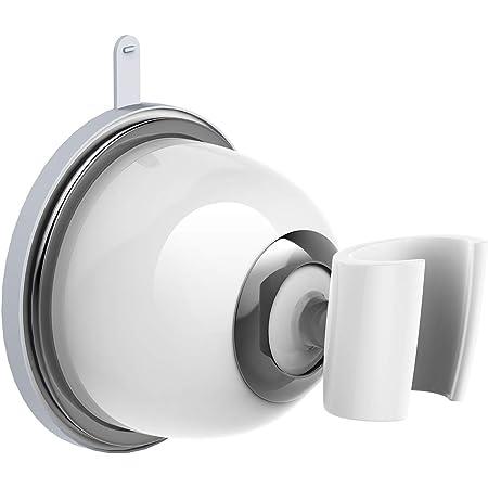 RUOFEIシャワーフック ハンドシャワーフック シャワーホルダー 上下・左右、角度の調節が自由自在 しっかり 吸着 強力ジェル吸盤シャワーヘッドホルダー 取り外し可能で再利用可能