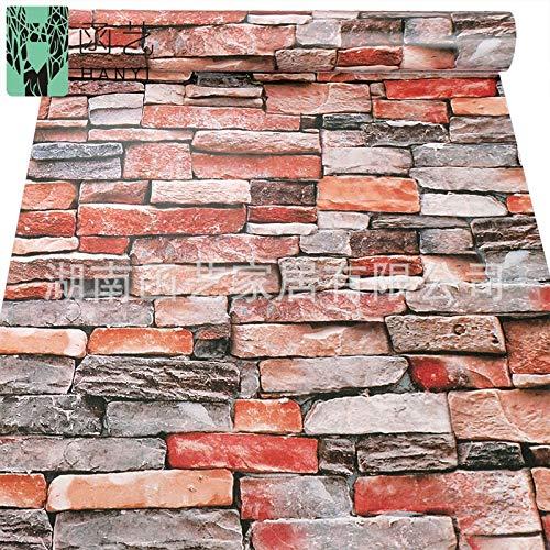 Desktop Küche ölbeständige Tapete Wand Bad Tapete Vintage Backsteinmauer Backstein Ziegel Tapete 10 m 0,45 * 10 m
