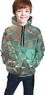 Geometric Crystal Kids/Teen Girls' Boys' Hoodie,3D Print Pullover Sweatshirts