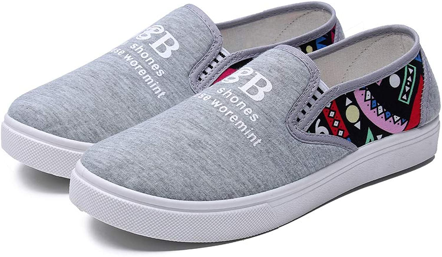 Women's Casual Comfort Slip On Canvas Sneakers Loafers Flats shoes