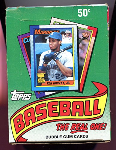 1990 Topps Baseball Cards Box (36 packs/box, possible Sosa & Thomas Rookies)