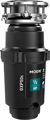Moen GXP50C Prep Series PRO 1/2 HP Continuous Feed Garbage Disposal, Power Cord Included