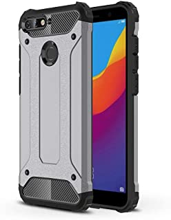 TenYll Huawei Honor 7A Case, Full-body Rugged Case TPU + PC,durable,Four corners thickened,Suitable for Huawei Honor 7A -Gray