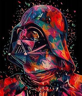 Peinture /à lhuile de bricolage par num/éros Oil Pinting num/érique Star Wars Yoda figure principale Wall Art Picture Peinture acrylique pour la d/écoration de la maison Drop Shipping-sans cadre,40x50cm