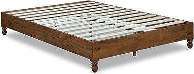 Amazon Com Zinus Marissa 12 Inch Deluxe Wood Platform Bed